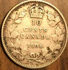 1906 CANADA SILVER 10 CENTS COIN