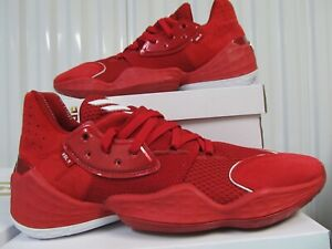 RARE Adidas Harden Vol 4 PE PLAYER EXCLUSIVE TEAM EDITION Red 10.5 EF9783 Nets 5