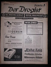 Zeitschrift  Der Drogist Dezember 1943 Heft 50/51 Ausgabe A Werbung Parfum Creme