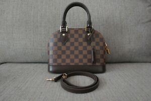 Sale! New Authentic 2019 Louis Vuitton LV Bag Damier Alma BB Ebene