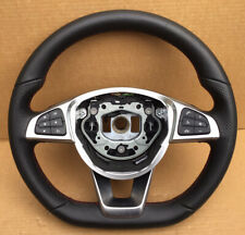 MERCEDES A B CLA CLASS STEERING WHEEL W176 W117 AMG LEATHER RED STITCHING