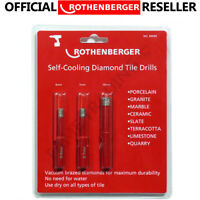 Rothenberger Self Cooling Diamond Tile Drill Bits 3 Piece SET 89099