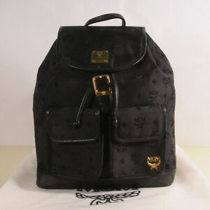 AUTHENTIC MCM Jacquard backpack  + Dust Bag