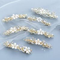 Pearl Barrettes Women Hair Clip Cute Crystal Hair Hairpin Headwear Gift JCAU