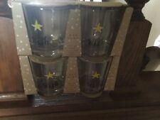 RAE DUNN GLASSES WISH 2 SETs OF 2 SET GIFT BOX Glass Star 11oz