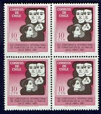 CHILE 1967 STAMP # 705 MNH BLOCK OF FOUR FAMILY