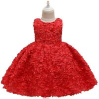 Girl's Flower Princess Dresses Party Wedding Dresses Gown Kids Xmas Holiday Gift