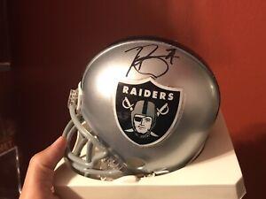 Tim Brown Oakland Raiders Signed Riddell Mini Helmet COA Heisman Notre Dame