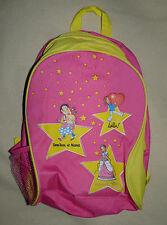 Sac à dos rose et jaune enfant fille Tom Tom et Nana / Princesse Zelina / Lulu
