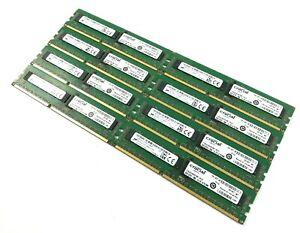 Job Lot x8 Crucial / Micron 8GB 2RX8 PC3-14900R-13-13-B1 MT18JSF1G72PDZ-1G9E2HF
