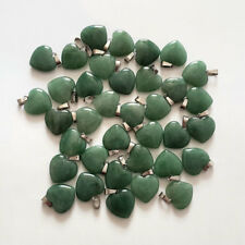 Fashion green aventurine stone Love Heart charms Pendants 50pcs/lot Wholesale