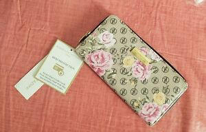 Adrienne Vittadini Floral Zip Around w/RFID Protection Back Card Wallet, RV $34