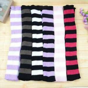 Knit Socks Gothic Loose Leg Warmers Punk Lolita Warm Japanese Striped