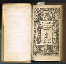 APULÉE OEUVRES  Ioann. Ianssonium AMSTERDAM 1628 VÉLIN TITRE GRAVÉ BEL EX