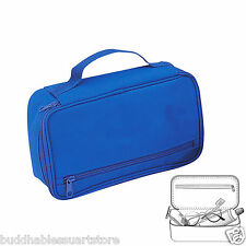 Blue Travel Kit Organizer Accessories Bathroom Cosmetics Toiletry Pouch Bag