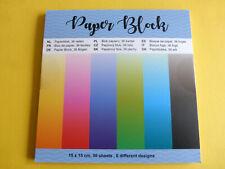 8 Blatt Hintergrundpapier #5  Glitzer Basteln Kartengestaltung Scrapbooking