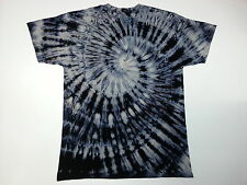 Tie dye T Shirt Bleach  acid wash  , spiral  by sunshine clothing. S to 2XL,