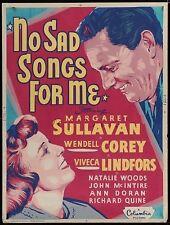 16mm Drama--Margaret Sullavan in NO SAD SONGS FOR ME (1950)