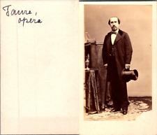 Actrice Théâtre, Opéra, Monsieur Faivre Vintage CDV albumen carte de visite - Ar