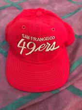 SF 49ers Vintage Sports Specialties Script Red Gold Wool Snapback Hat Pro Model