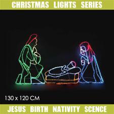 Christmas LED Motif Jesus Birth Nativity 130 x 120cm Indoor Outdoor Display Sign