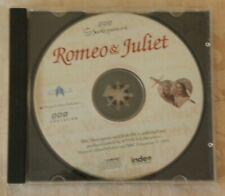 1995 BBC Shakespeare Romeo and Juliet CD Rom Windows 95/98
