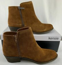 KENSIE Women's Brown Ghita Suede Ankle Boots Size 8.5