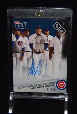 2017 TOPPS NOW ANTHONY RIZZO AUTO CARD 31/49 CHICAGO CUBS WORLD SERIES #31B