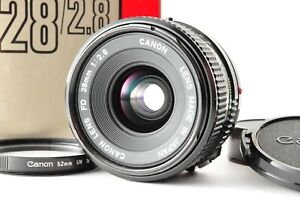 [Exc+5 with Box] Canon NEW FD NFD 28mm f2.8 MF Standard Lens from JAPAN #36