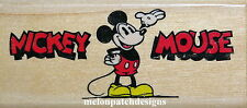 DISNEY Classic Mickey Mouse & Saying Border Rubber Stamp STAMPEDE