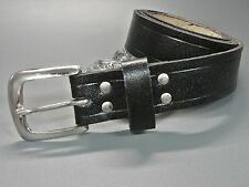Neu 110cm ECHT LEDER GÜRTEL in schwarz LEDERGÜRTEL Vollleder VINTAGE Jeansgürtel