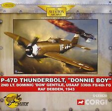 us33820 CORGI P-47 Thunderbolt,'DONNIE BOY' 2° lt. Dominic GENTILE 147/750 NUOVO