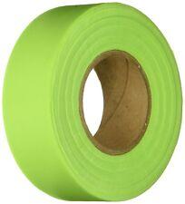 "KESON GLO-LIME GREEN Flagging Tape LOT OF 12 Marking 150' Roll 1 3/16"" W"
