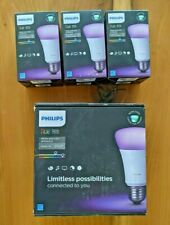 Used Phillips Hue White And Color Ambiance Bulb Starter Kit + 3 Color Bulbs