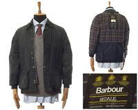 Mens BARBOUR Bedale Wax Waxed Jacket Coat Green Size C38/97cm