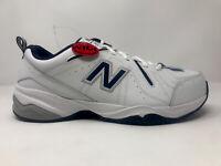 New Balance Men's 619 Training Walking Shoe MX619WN White/Blue Size 12 Wide 4E