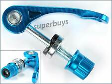 Blue Quick Release Silver Bicycle Seatpost Clamping Bolt Lever Bike Connector