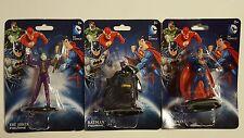New DC Comics Plastic Figurines, 2.25 in. Lot of 3 Batman Joker Superman