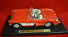 Die Cast Chevrolet Corvette (1957) Model Car 1/18 Scale w/ Display Plaque