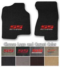 Chevy Silverado 2pc Classic Loop Carpet Floor Mats-Choice of Carpet Color & Logo