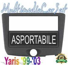 Mascherina Autoradio 1 2 Doppio DIN Toyota Yaris 1' Serie da 99-03 Cassetto