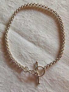 Sterling Silver T-bar Delicate Bracelet