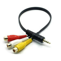 3.5mm AUX Male Plug to 3RCA Female Cable AV Composite Stereo Audio Adapter Cord