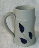 Williamsburg Pottery Mug  Saltfired Blue - Handmade