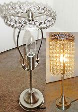 MAKE UR OWN CHANDELIER TABLE KIT LIGHT LAMP NO DROPS DROPLETS ANTIQUE CHROME