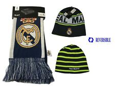 NEW!  REAL MADRID SET BEANIE AND SCARF REVERSIBLE OFFICIAL PRODUCT