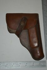 Paper holster Walther Pp with leather closure strap and belt loop