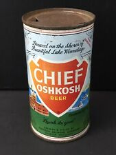 Vintage Steel Beer Can Flat Top Chief Oshkosh WI