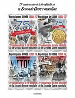 Guinea Military & War Stamps 2020 MNH End of WWII WW2 Winston Churchill 4v M/S