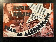 *RARE* STAR OF MIDNIGHT 1935 MOVIE HERALD - WILLIAM POWELL, GINGER ROGERS